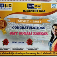 Mrs. Sonali Dilip Raskar achived continues 5th year MDRT AWARDS